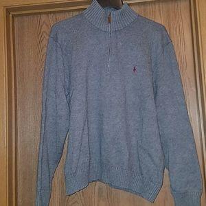 Polo gray 1/4 zip gray sweater